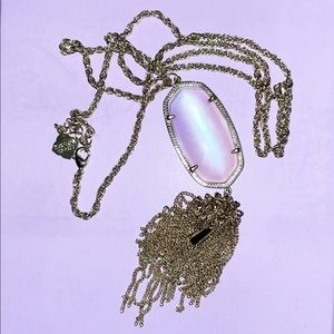 Clear Iridescent Rayne Necklace